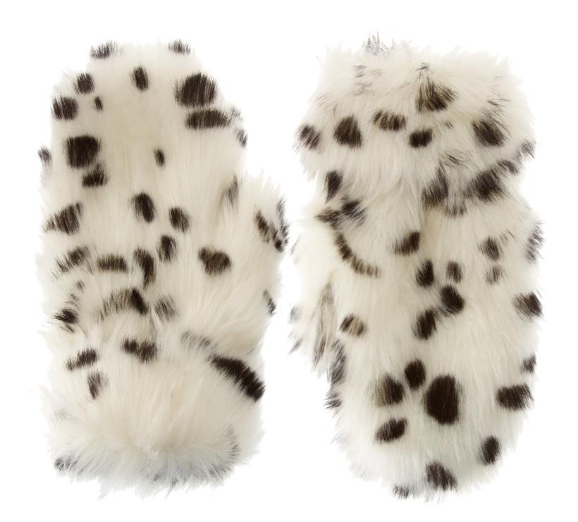 ASOS futerkowe rękawiczki futrzaki białe futerko