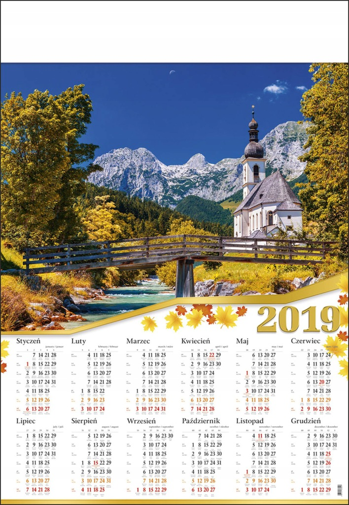 Kalendarz Plakatowy B1 Krajobraz Widoki Gory B1 08 7644847688 Oficjalne Archiwum Allegro