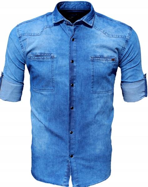 koszula jeansowa dżins xxxl 10956_XXXL_megakoszula  uPaFI