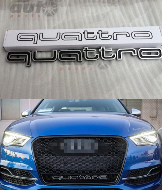 Emblemat Quattro Audi/Zderzak A3,A4,A5,A6,A7,A8,S4