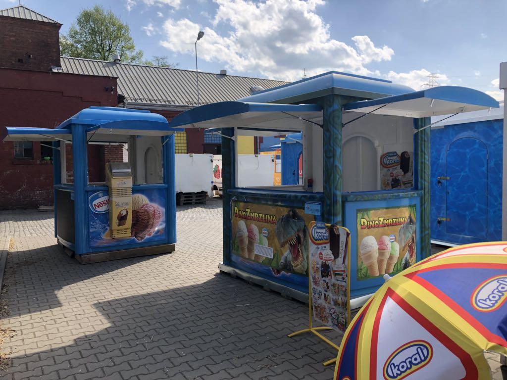 Kiosk Lodziarnia na Lody $ Lodowy Kiosk $ Lody