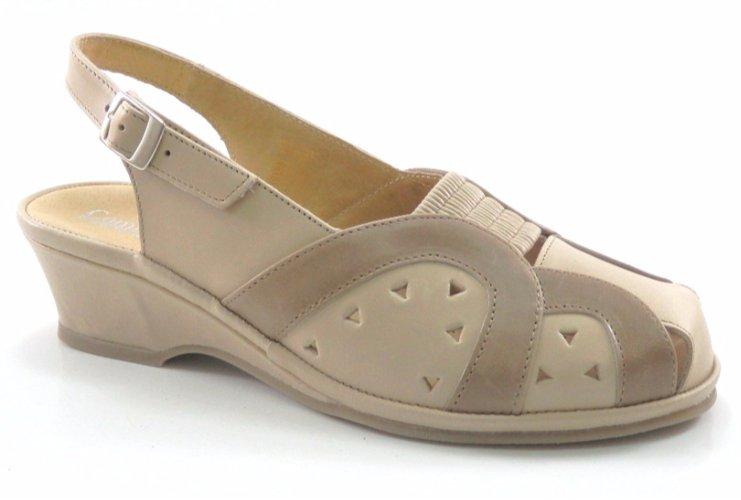 comfortabel sandały skórzane 35