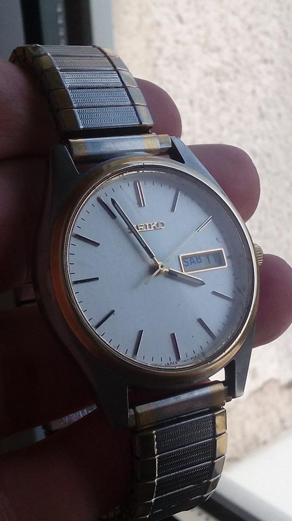 Piękny, japoński zegarek Seiko 7N43 z datownikiem