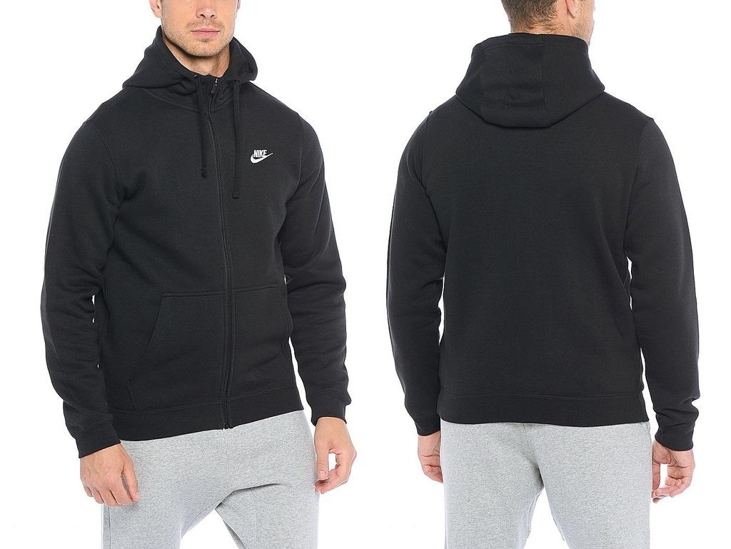 bluza m nsw hoodie fz flc club 804389-010 nike