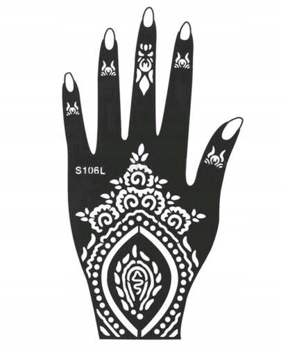 Szablon Na Dlon Do Tatuazu Henna Mehendi S106l 7740019017 Oficjalne Archiwum Allegro