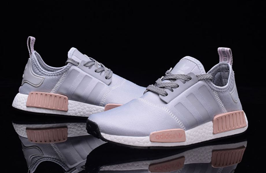 Adidas NMD R1 runner buty szaro różowe *38