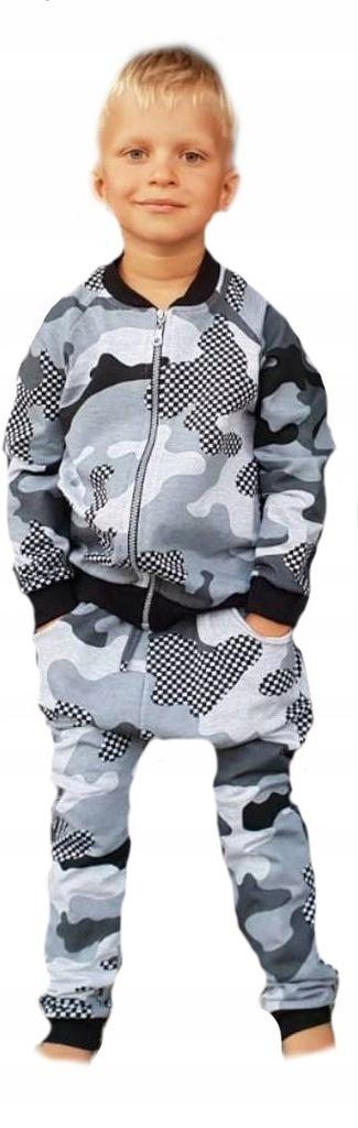 Dres komplet bluza spodnie szary moro 116