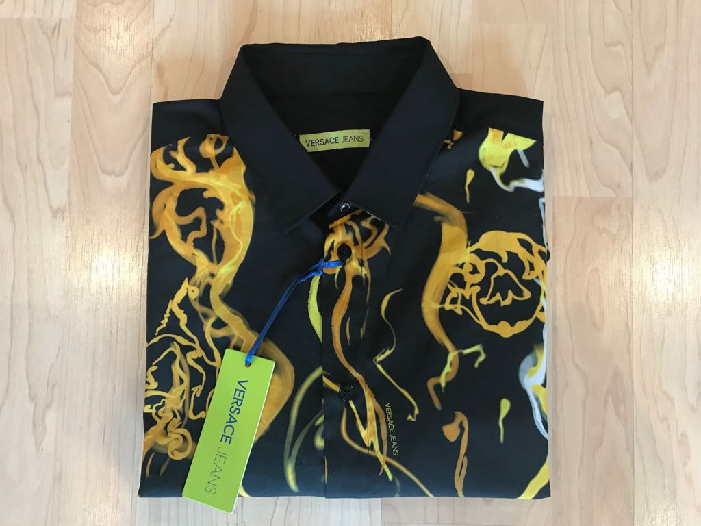 VERSACE JEANS świetna logowana koszula S M NOWA