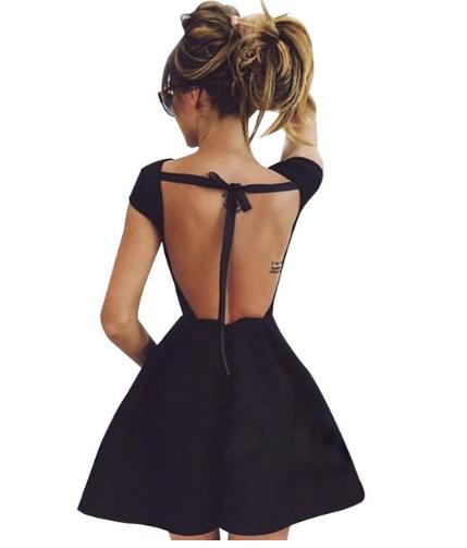 Czarna Rozkloszowana Sukienka Bez Plecow 36 S Hit 6746271963 Oficjalne Archiwum Allegro
