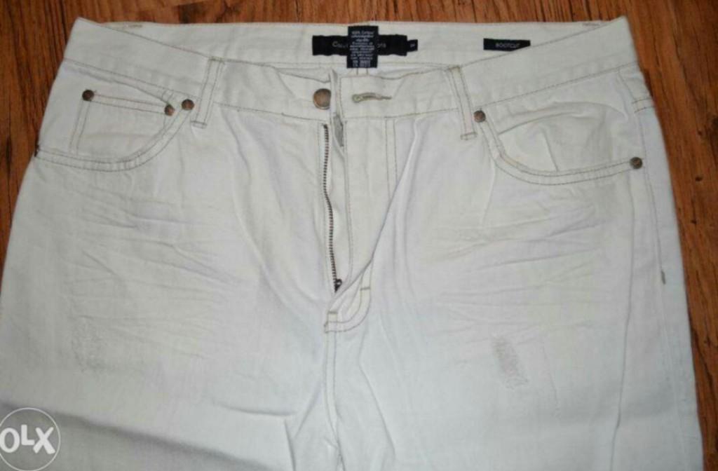 Nowe oryginalne spodnie męskie Calvin Klein białe