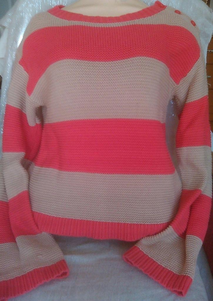 Gapkids swetr w pasy XL\XXL jak dziergany