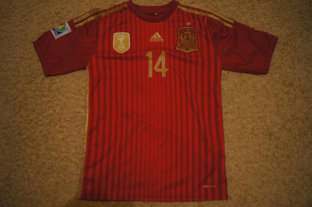 Koszulka Reprezentacji Hiszpanii 2014 Xabi Alonso 7555973778 Oficjalne Archiwum Allegro