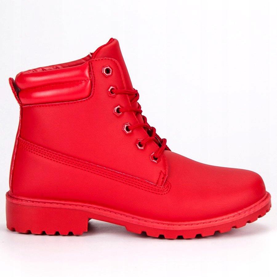 Czerwone Buty Damskie Botki Seastar r.38 7699028627
