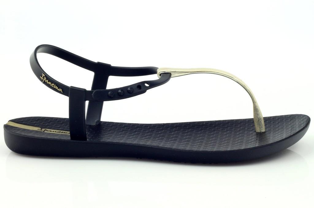 Sandałki japonki Ipanema 82283 czarne złote | Japonki, Buty