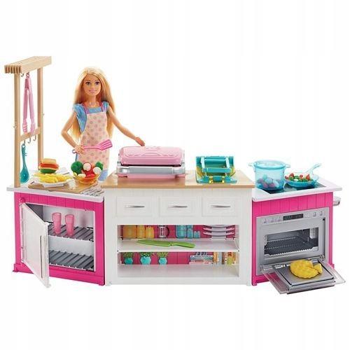 Barbie Idealna Kuchnia Z Lalka I Akcesoriami 7544164327 Oficjalne Archiwum Allegro