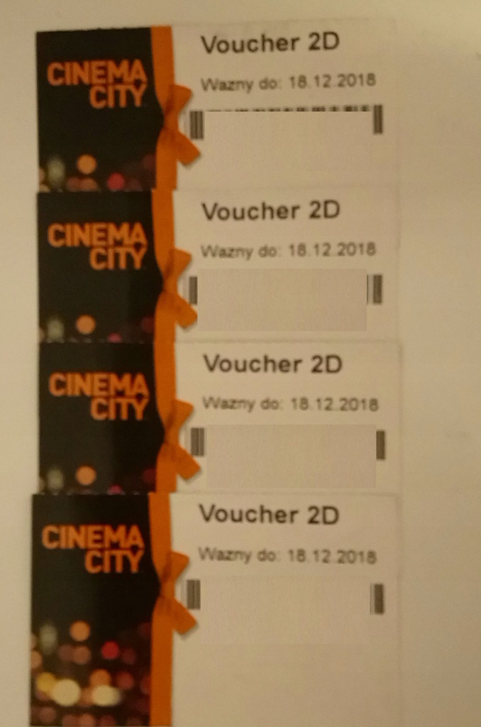Bilet Kino Cinema City 2d Tylko 4sztuki 7640631316 Oficjalne Archiwum Allegro