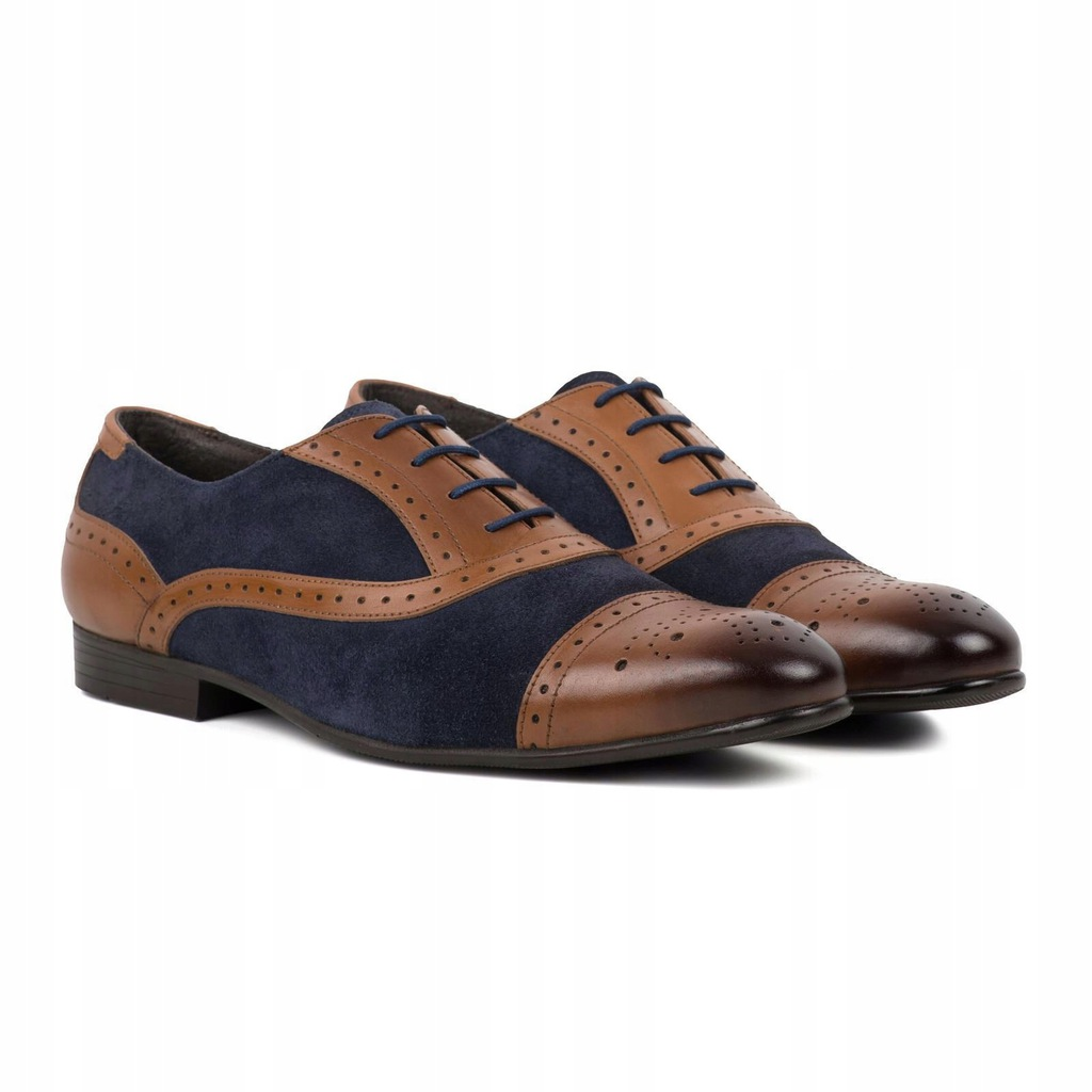 Redfoot Oxford Brogue Buty Męskie Pantofle 43