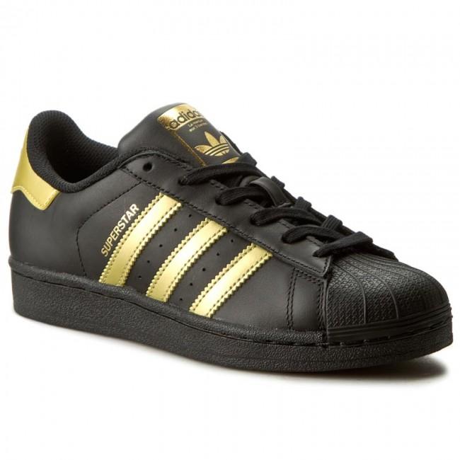 buty adidas superstar czarne ze złotym