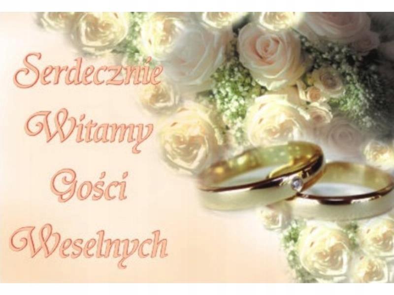 Plakat Dekoracja Sali Weselnej Witamy Goścci