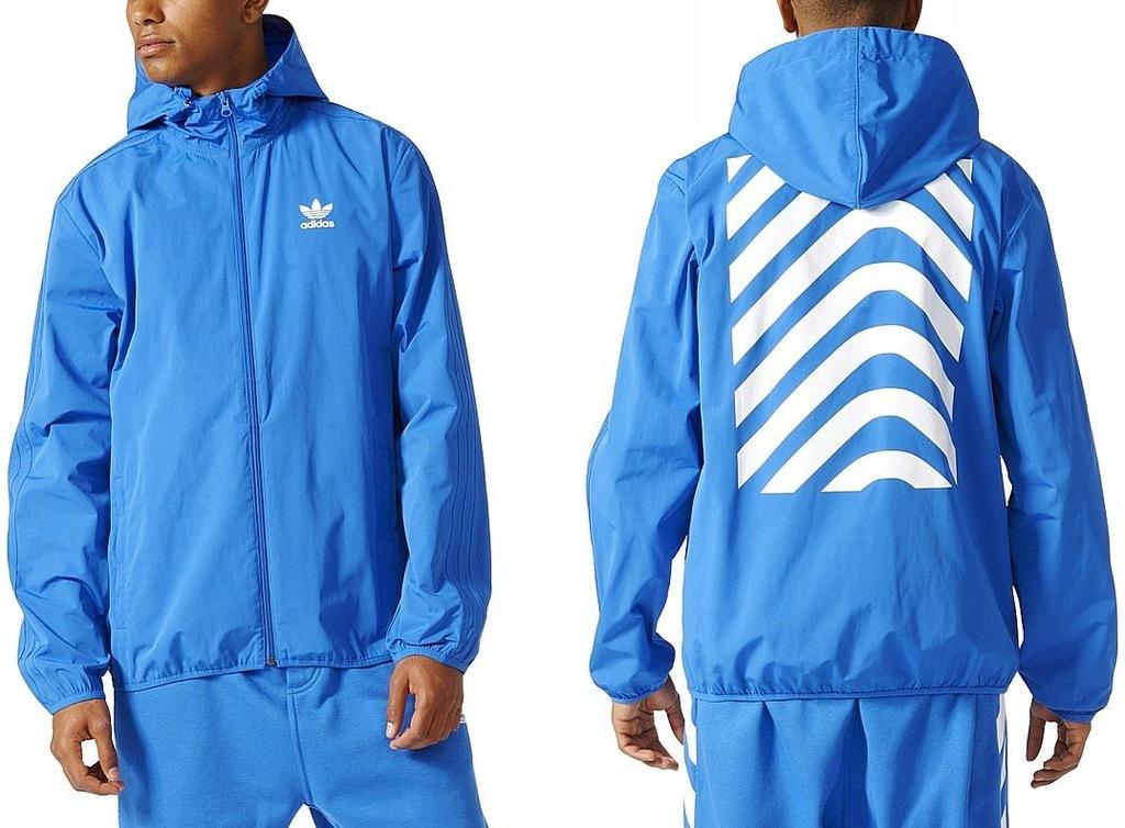 Adidas NYC HERRINGBONE (XL) Kurtka Męska Wiatrówka