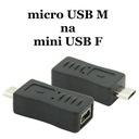 Adapter Mini USB żeński na micro USB męski