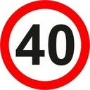 Znak Drogowy B 600mm ograniczenie b-33 np 40 km/h