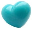 2szt. - nosek zaciskowy serce 15x13mm, turkusowe