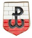 Przypinka Polski Walczącej na murze - nowość kolor