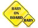 NAKLEJKI ODBLASKOWE NA AUTO SAMOCHÓD BABY ON BOARD