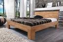 Łóżko dębowe SARA 160x200, lite, naturalne drewno