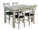 ADA-neue 4 Stühle + stół80x120 weiß neu