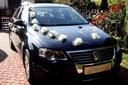Dekoracja samochodu ślubnego weselnego na samochód