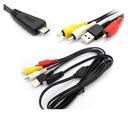 Kabel USB i przewód AV VMC-MD3 do Sony Cyber-Shot