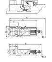 Imadło maszynowe hydrauliczne 160mm