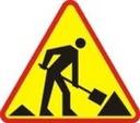 Znak Drogowy A 900mm roboty drogowe robotnik A 14