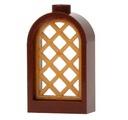 Okno zamkowe brązowe + krata LEGO 30044 30046