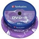 PŁYTY VERBATIM DVD+R 4,7GB 16x Cakebox 25 szt.f.va