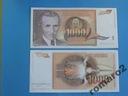 Banknot Jugosławia 1000 Dinara 1990 P-107  UNC
