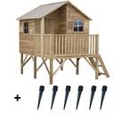 Drewniany Domek Ogrodowy Dla Dzieci JERZYK+ 6 kotw