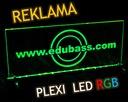 Reklama podświetlana LED RGB + projekt