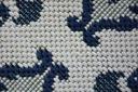 Dywan SIZAL 200x290 KWIATY biały/niebieski #B474 Grubość 6 mm