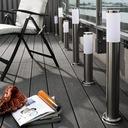 Lampa ogrodowa stojąca słupek do LED E27 INOX 45cm Zasilanie sieciowe