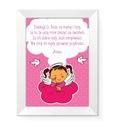 Obrazek w ramce Anioł Stróż modlitwa dla dziecka
