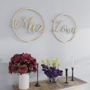 Mąż Żona - Dwa koła typu wianek napisy na wesele Kolor dominujący wielokolorowy