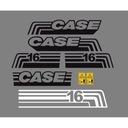 Naklejki naklejka oklejenie minikoparka CASE 16