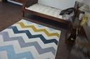DYWAN NR 80x150 ZYGZAK żółty niebieski #A179 Przeznaczenie do wnętrz