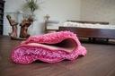 DYWAN SHAGGY 5cm koło 133 cm róż pluszowy @31513 Kolor odcienie różowego