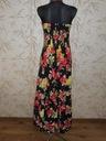YUMI - czarna sukienka maxi w kwiaty - M Materiał dominujący bawełna