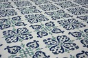 Dywan SIZAL 200x290 KWIATY biały/niebieski #B474 Kolor biały kremowy odcienie niebieskiego odcienie zieleni