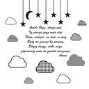 Naklejka nad łóżko modlitwa Aniele Boży Boże 100cm